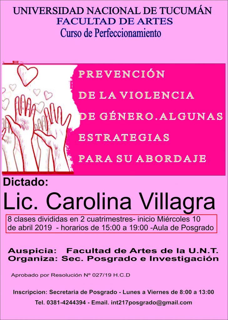 Afiche Carolina Villagra